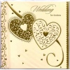 Gold Embossed Wedding Invitation Pk6